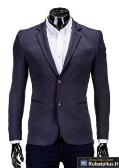 Tamsiai pilkas vyriškas švarkas prie džinsų Camlow M54
