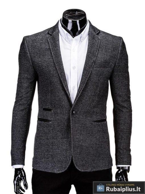 Juodas vyriškas švarkas prie džinsų Elbert M62