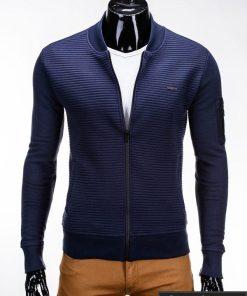 Tamsiai mėlynas vyriškas džemperis internetu pigiau Ombre B551