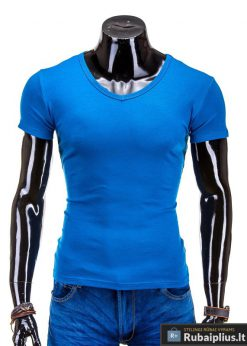 Mėlynos spalvos marškinėliai vyrams internetu pigiau Stegol S605