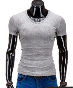 Pilkos spalvos marškinėliai vyrams internetu pigiau Stegol S605