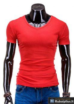 Raudonos spalvos marškinėliai vyrams internetu pigiau Stegol S605