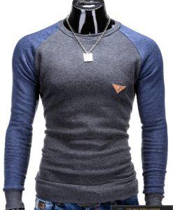 """Megztiniai vyrams. Stilingas pilkos spalvos megztinis """"Digo"""" - Rubaiplius.lt"""