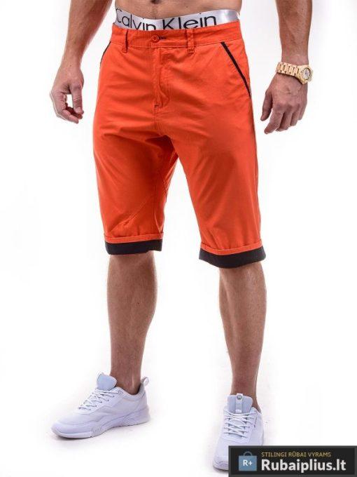 Oranžinės spalvos vyriški bridžai internetu pigiau Ombre P232