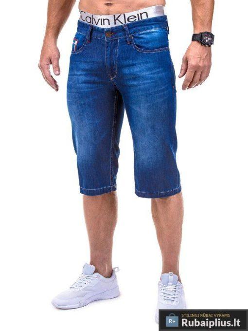 Mėlyni džinsiniai šortai vyrams internetu pigiau bridzai Rico P382