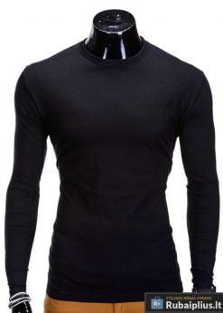 Juodos spalvos vyriški marškinėliai ilgomis rankovėmis internetu pigiau Long L59