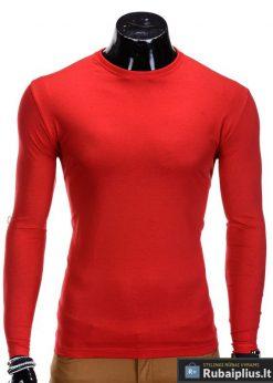 Raudonos spalvos vyriški marškinėliai ilgomis rankovėmis internetu pigiau Long L59
