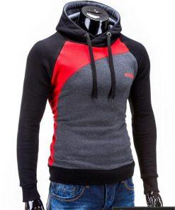 vyriškas pilkos raudonas spalvos džemperis miguel, vyriškas džemperis su gobtuvu, džemperis is medvilnės, stilinga apranga vyrams, džemperiai vyrams internetu, vyriškas bliuzonas džemperis, vyriškas bliuzonas ir džemperis, megztinis, vyriški džemperiai už protinga kaina, apranga vyrams sportui, džemperis ilgomis rankovėmis