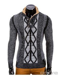 Vyriškas-juodas-megztinis-Kos