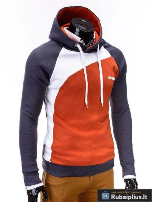 vyriškas pilkos oranžinės spalvos džemperis miguel, vyriškas džemperis su gobtuvu, džemperis is medvilnės, stilinga apranga vyrams, džemperiai vyrams internetu, vyriškas bliuzonas džemperis, vyriškas bliuzonas ir džemperis, megztinis, vyriški džemperiai už protinga kaina, apranga vyrams sportui, džemperis ilgomis rankovėmis