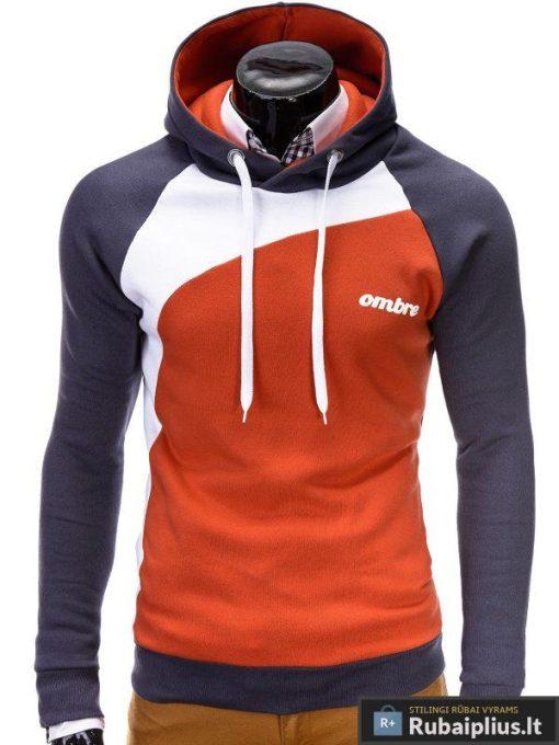 Vyriškas-pilkos-oranžinės-spalvos-džemperis-Miguel