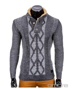 Vyriškas-tamsiai-pilkas-megztinis-Kos