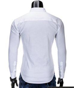 Klasikiniai balti vyriški marškiniai ilgomis rankovėmis vyrams internetu pigiau K219B nugara