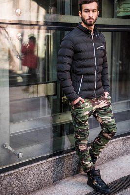 Stilingos kamufliažinės vyriškos laisvalaikio kelnės