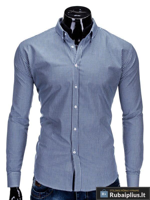 rubaiplius-Mėlynos-spalvos-marškiniai-vyrams-Clerk