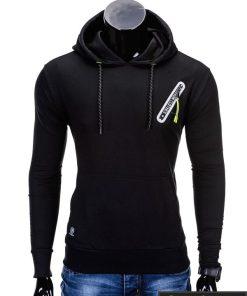 Juodas vyriškas džemperis internetu pigiau Klod B639