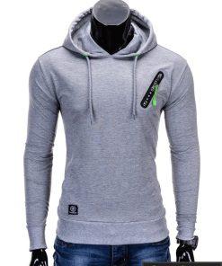 Pilkas vyriškas džemperis internetu pigiau Klod B639
