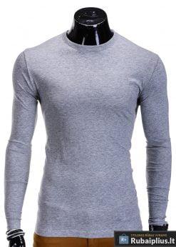 Vienspalviai pilkos spalvos vyriški marškinėliai ilgomis rankovėmis internetu pigiau L59