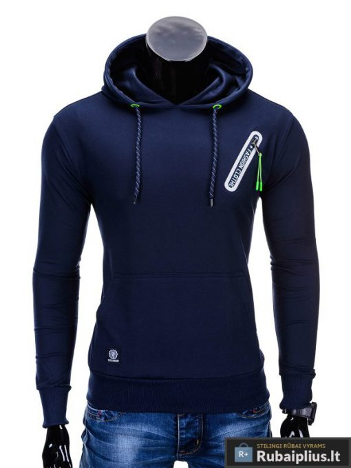 Tamsiai mėlynas vyriškas džemperis internetu pigiau Klod B639