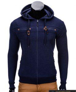 Tamsiai mėlynas vyriškas džemperis Nord B638TM