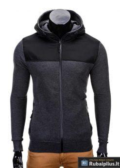 Tamsiai pilkas vyriškas džemperis internetu pigiau Free B628