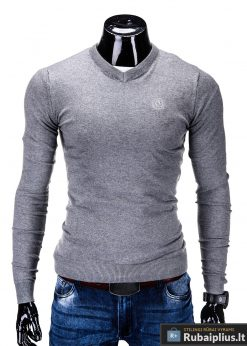 Vyriškas pilkos spalvos megztukas vyrams Ombre E74P-1