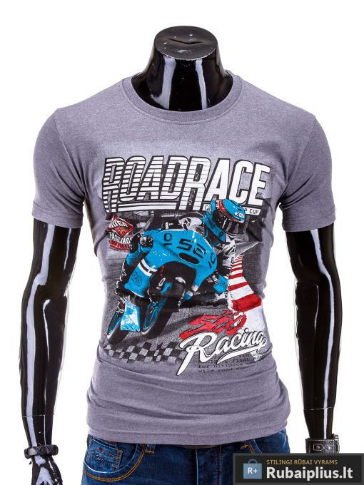 Vyriški marškinėliai vyrams su paveiksliuku ir užrašu internetu Roadrace S584