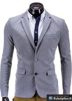 Pilkas vyriškas švarkas vyrams prie džinsų bleizeris internetu MARTIN M53