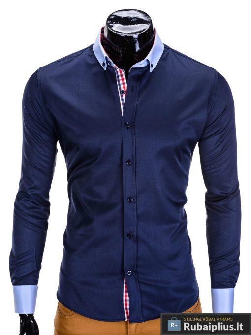 vyriski-tamsiai-mėlynos-spalvos-marškiniai-vyrams-stil-rubaiplius