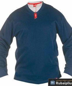 Didelių dydžių klasikinis mėlynos spalvos vyriškas bliuzonas internetu pigiau Bliss KS16596AM