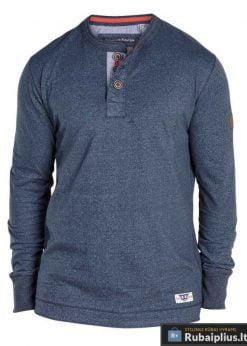 Mėlanžiniai mėlynos spalvos marškinėliai ilgomis rankovėmis vyrams internetu pigiau Davy 169534M