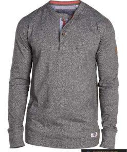 Mėlanžiniai pilkos spalvos marškinėliai ilgomis rankovėmis vyrams internetu pigiau Davy 169534P