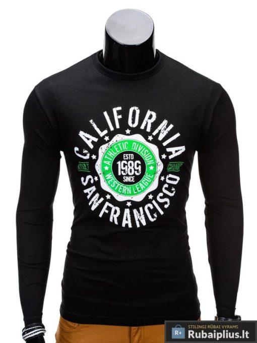 Marškinėliai vyrams ilgomis rankovėmis internetu pigiau Calif L97 vyriški marškinėliai