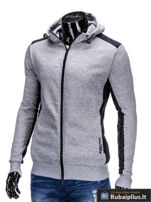 """Džemperis vyrams. Pilkos spalvos vriškas džemperis """"Grey"""" - Rubaiplius.lt"""