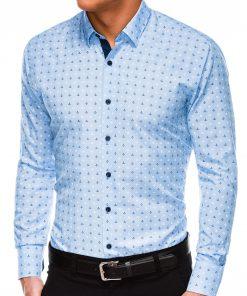 Šviesiai mėlyni vyriški marškiniai vyrams internetu inkaras_K314-3512_2