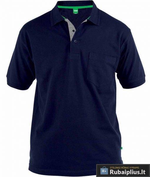 Didelių-dydžių-mėlynos-spalvos-polo-marškinėliai-Grant-165301M