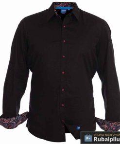 Juodi vyriški marškiniaiilgomis rankovėmisPascal 115332J