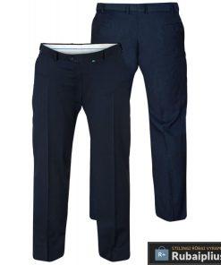 Didelių dydžių klasikinio stiliaus vyriškos tamsiai mėlynos spalvos kelnės Supreme KS1406N