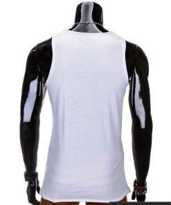"""Balti be rankovių vyriški marškinėliai vyrams """"Rurk"""" - Rubaiplius.lt"""