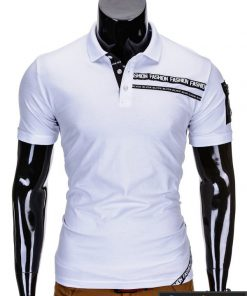 Baltos spalvos polo vyriški marškinėliai vyrams internetu pigiau Fash S685