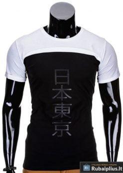 Baltos spalvos vyriški marškinėliai vyrams internetu pigiau Tokio S692