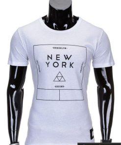 Baltos spalvos vyriški marškinėliai vyrams internetu pigiau Oracul S688
