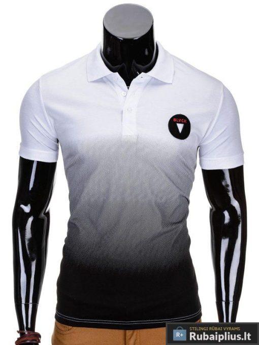 Baltos spalvos vyriški polo marškinėliai vyrams internetu pigiau Yan S693