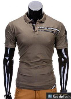 Chaki spalvos polo vyriški marškinėliai vyrams internetu pigiau Fash S685