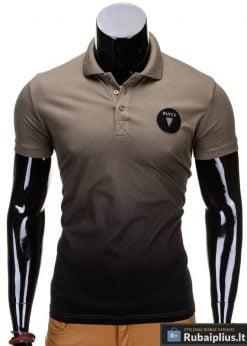 Chaki spalvos vyriški polo marškinėliai vyrams internetu pigiau Yan S693