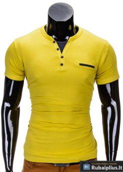 Geltonos spalvos vyriški marškinėliai vyrams internetu pigiau Gizmo S634