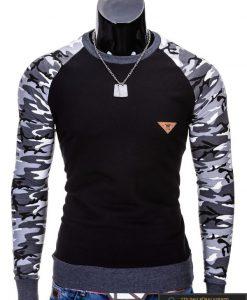 """Megztiniai vyrams. Stilingas juodas vyriškas megztinis """"Digo"""" - Rubaiplius.lt"""