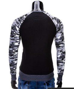Megztiniai vyrams. Stilingas juodas vyriškas megztinis