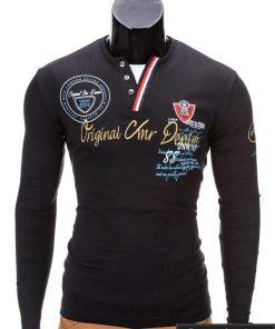 """Marškinėliai vyrams. Juodi vyriški marškinėliai """"Club"""" - Rubaiplius.lt"""