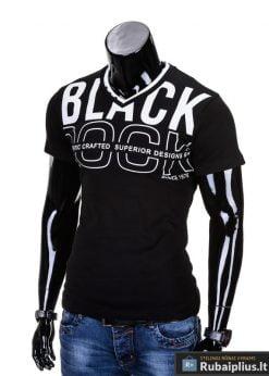 """Marškinėliai vyrams. Juodi vyriški marškinėliai """"Rock"""" - Rubaiplius.lt"""